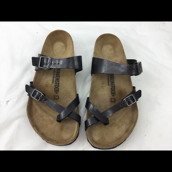 detailing f38e9 1574f Birkenstock Sandal Leather Strap SZ 41 265 L10M8